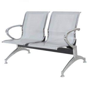 Cadeira Longarina Aeroporto com 2 Lugares Aço – Blume Office