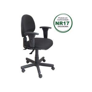Cadeira Executiva Back System Lisa ,a cadeira perfeita para seu call center. Possui regulagem de encosto, de braço e de altura.