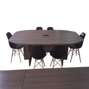 Conjunto Mesa de Reunião Diretoria e Dadeiras Design
