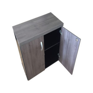 Armário Baixo 2 portas com tranca e prateleira interna com pés de regularem linha 40 MM