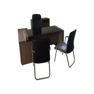 Conjunto Mesa com Aparador Artesano, Cadeiras e Armário (Promoção enquanto durar o estoque)