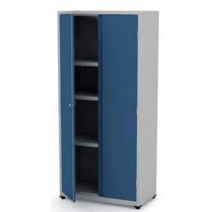 Armário de Aço 2 Portas Azul – Pandin Linha PA75