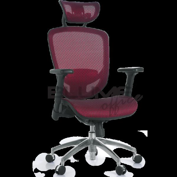 Cadeira presidente BLM 0088 P .Com assento e encosto revestidos em tecido 100% nylon de alta resistência. Mecanismo A-Syncron* com travamento em qualquer estágio de inclinação. Ajustes de altura e relax por meio de manetes no assento. Pistão a gás cromado, aranha 350 mm em alumínio e rodízios exclusivos.