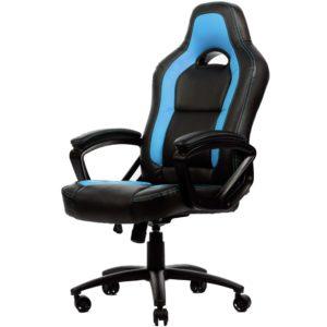 Braço almofadado, assento e encosto também. – Design ergonômico. – Couro sintético PU para facilitar a limpeza. – Rotaçãoo de giro de 360 graus. – Mola de gâs de altura ajustável.
