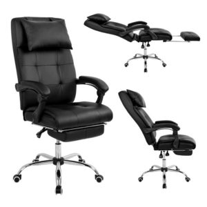 """Com um visual elegante, a """"Cadeira Presidente Reclinável em Couro PU Pelegrin PEL-3022"""" é a escolha perfeita para quem busca qualidade e conforto. A cadeira disponibiliza diversos recursos para proporcionar maior comodidade, como o mecanismo de encosto reclinável, com ajuste de parada em diferentes ângulos. E o apoio retrátil para os pés, localizado abaixo do assento que pode ser facilmente acionado de maneira manual. O encosto conta ainda com almofada para a cabeça."""
