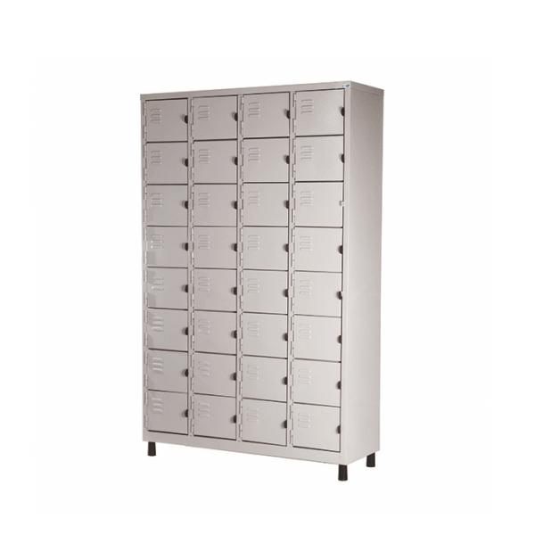 Roupeiro de Aço com 32 Portas Pequenas – Nobre