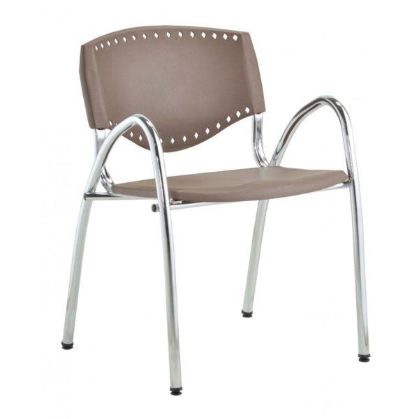Cadeira Plástica Evidence Roal , Encosto: Polipropileno Assento: Polipropileno Braço: Sim Base: Metálica Pés: Palito (cromados) Cor: (consulte-nos) Revestimento: Plástico