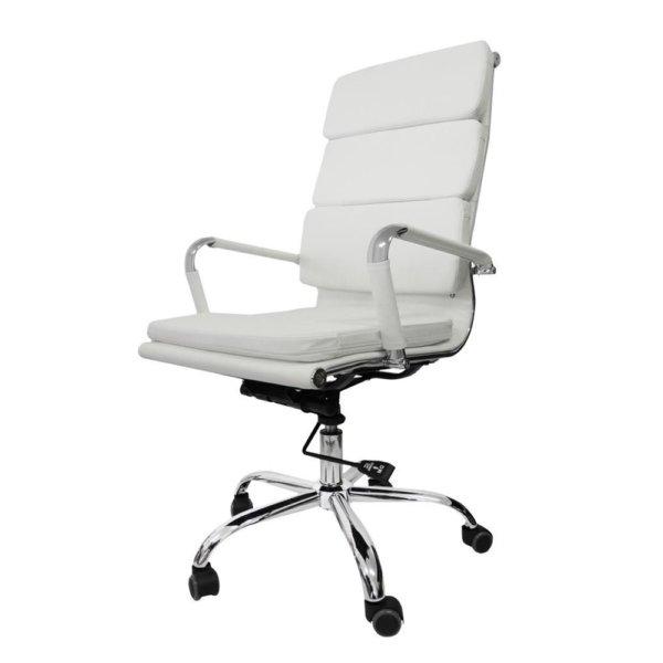 Cadeira Presidente Pel-7089h3 Couro PU Branca – Pelegrin