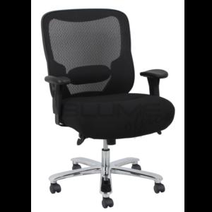 Cadeira presidente de luxo ,possui aranha em aço cromado ,assento com espuma laminada com alta densidade e revestimento em tecido camurça preto e encosto telado