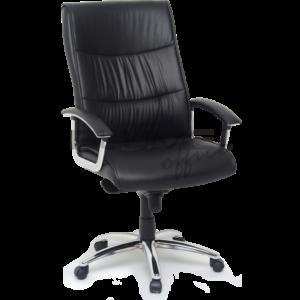 Cadeira presidente plus size BML ,com encosto e assento revestidos em courino com espuma injetada no assento, espuma com densidade controlada no encosto e sobrecapa em soft.