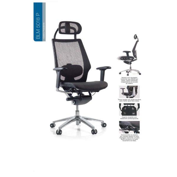 Cadeira Presidente BLM 5018 P – Blume Office