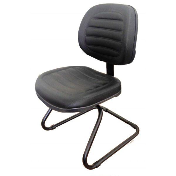 """Cadeira Executiva Fixa Costurada Base em """"S"""",Produto: Cadeira ExecutivaModelo: FixaGarantia: 1 AnoBraços: Reguláveis ou NãoAssento e Encosto:Espuma injetada anatomicamente a quenteRevestimento:Couro ecológico e crepeBase: Modelo em """"S"""""""