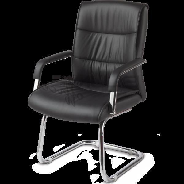 Cadeira de Aproximação  Estofada Cromada