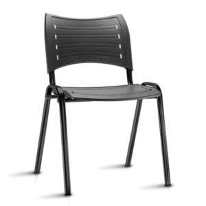 Cadeira ISO , Modelo: Fixa base 04 Pés Linha: Interlocutor Garantia: 1 Ano Braços: Sem Braços Assento / Encosto: Plástico Preto ou Colorido (Polipropileno) Estrutura de Aço Reforçado: Cor Preta / Alumínio