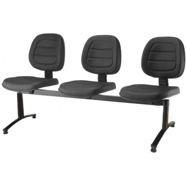 Cadeira Longarina Executiva Gomada com 3 Lugares – VTR