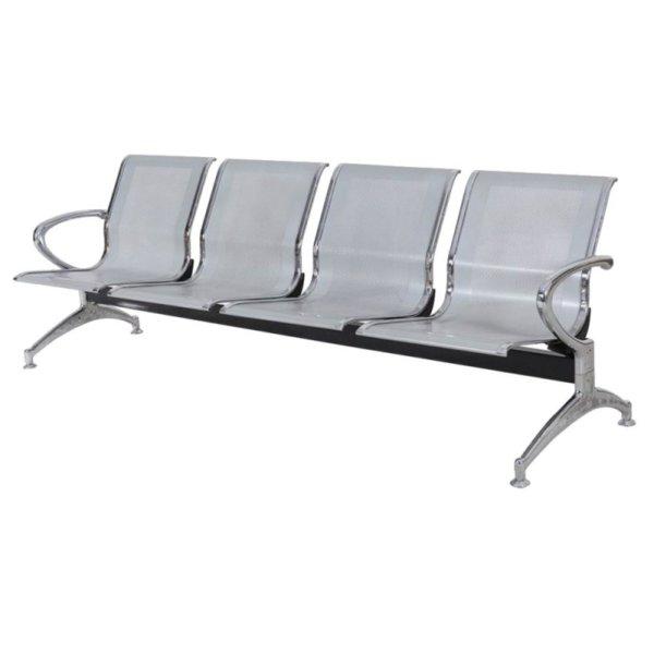 Cadeira Longarina Aeroporto com 4 Lugares Aço – Blume Office