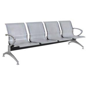 Longarina Aeroporto c/ 04 lugares Aço ,Cadeira Longarina Diretor em Aço 04 lugares Modelo: Aeroporto em Aço Garantia: 2 Anos Braços: C/ braços laterais cromados Encosto/Assento: Todo em Aço