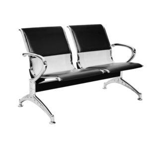 Longarina Aeroporto c/ 02 lugares Aço ,Cadeira Longarina Diretor em Aço Modelo: Aeroporto em Aço Garantia: 2 Anos Braços: C/ braços laterais cromados Encosto/Assento: Todo em Aço