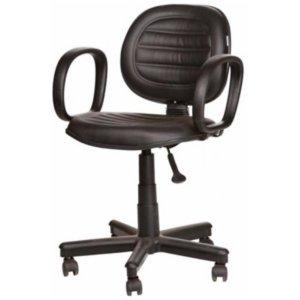 Cadeira Executiva Giratória Costurada Braço Fixo – VTR
