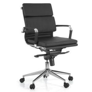 Cadeira Diretor BLM giratória Encosto e assento revestidos em courino