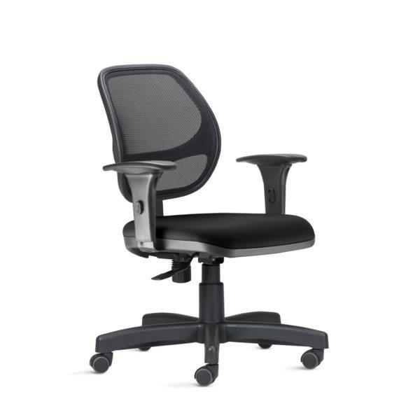 Cadeira Executiva Job Tela , é a tradução de conforto e modernidade. Sua versão em tela a torna ainda mais contemporânea e ergonômica. O desenho característico do encosto traz sofisticação e personalidade aos ambientes corporativos.