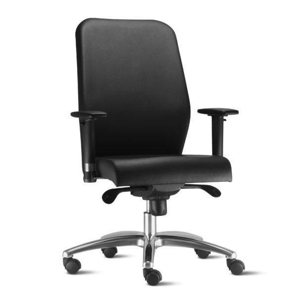 Cadeira Presidente Pointer Premium. Pointer Premium é sinônimo de elegância e conforto. Desenvolvida com tecnologia em percintas elásticas e espuma injetada, garante elasticidade e maciez no toque.