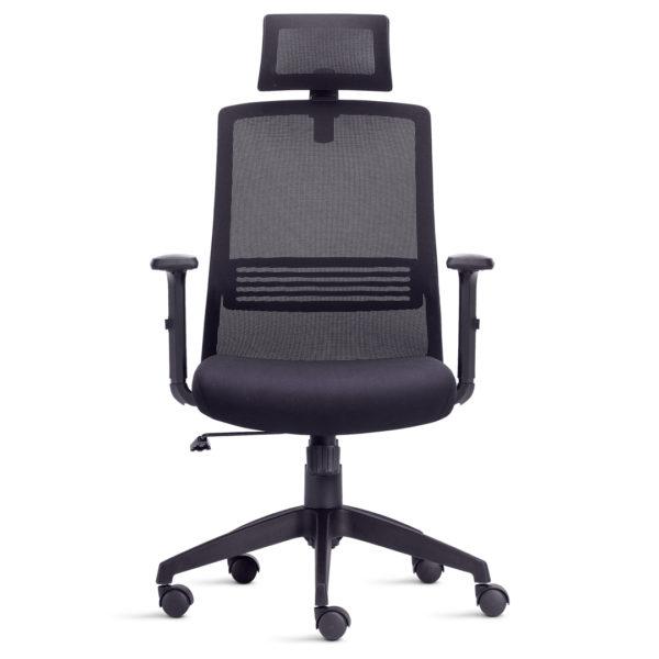 Cadeira Presidente Joy,Joy traz um design superior em cadeiras operativas para o segmento de entrada. Pode ser equipada com encosto de cabeça, apoio lombar e o espaldar em tela confere conforto e sofisticação.