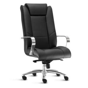 Cadeira Presidente New Onix.simboliza conforto e elegância. Perfeita para ambientes corporativos, possui assento e encosto injetados em espuma de altíssima resiliência, aliados a um design clássico. Possui mecanismo de articulação avançado, braços e estrela em alumínio.