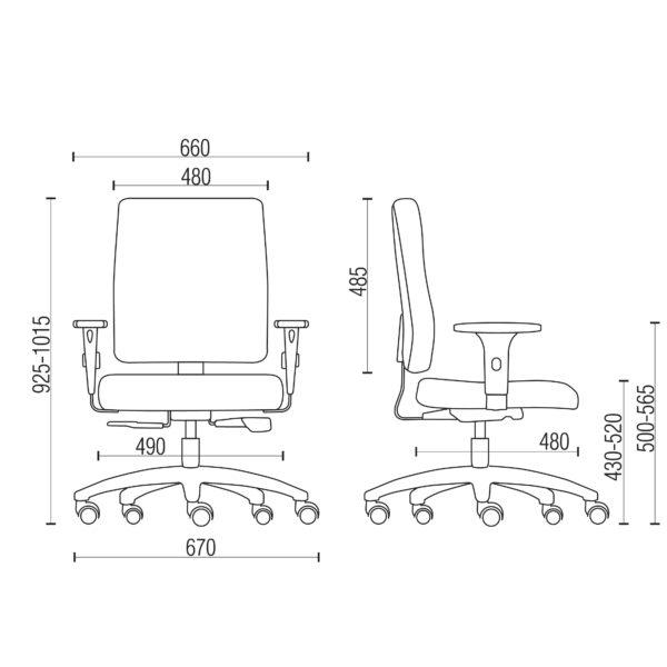 Cadeira Diretor Séphia – Frisokar