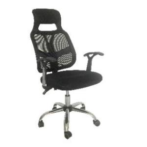Cadeira modelo presidente Hosanah back Sistem tela luxo Base giratória em aço cromado. Função de ajuste de altura por pistão a gás