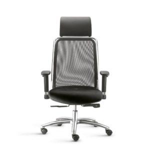 Cadeira Presidente Soul,é a linha de assentos para quem quer conforto e design moderno em uma única peça. Com encosto telado, ajusta-se anatomicamente ao corpo, além de garantir a respiração e controle de temperatura.