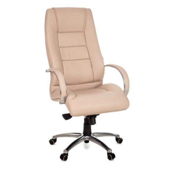 Cadeira Presidente BLM giratória Encosto e assento revestido em courino com espuma laminada de alta densidade
