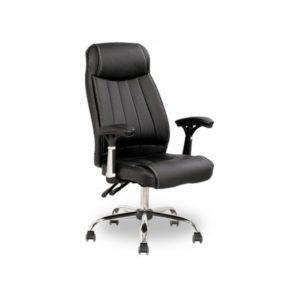 Cadeira presidente Hosanah Acolchoada Luxo Estrutura em Aço cromado Plus size – peso recomendado de 160 kg Reclinável\back Sistem É a junção de conforto, beleza e durabilidade.