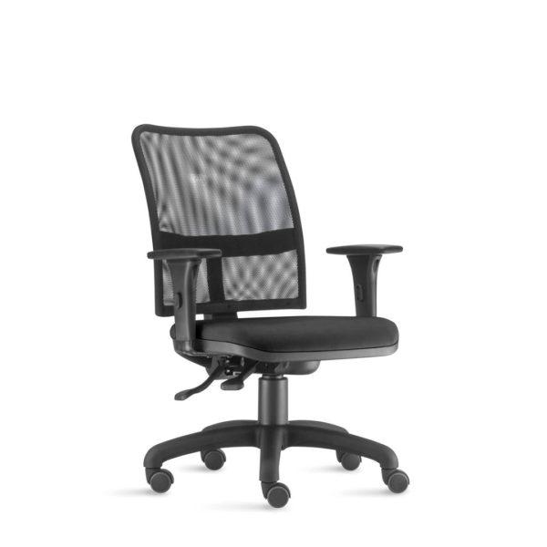 Cadeira Executiva Soul , é a linha de assentos para quem quer conforto e design moderno em uma única peça. Com encosto telado, ajusta-se anatomicamente ao corpo, além de garantir a respiração e controle de temperatura. E operativa com mecanismo de ajuste ergonômico.
