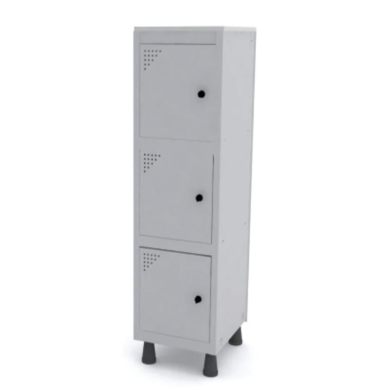 Mini Roupeiro de Aço 3 Portas – Pandin