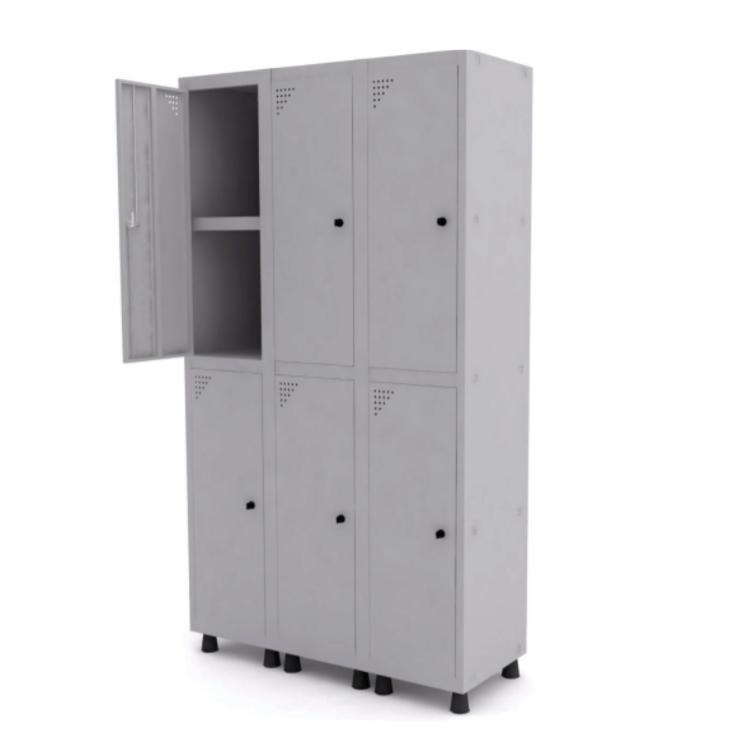 Roupeiro de Aço com 6 Portas Grandes – Pandin