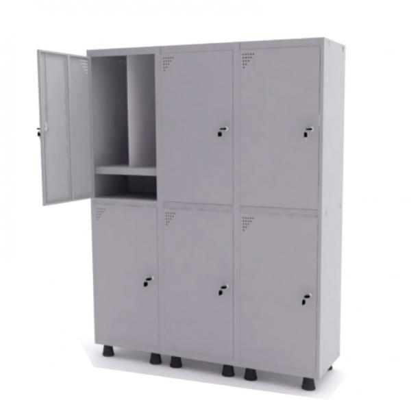 Roupeiro de Aço Insalubre com 6 Portas Grandes – Pandin
