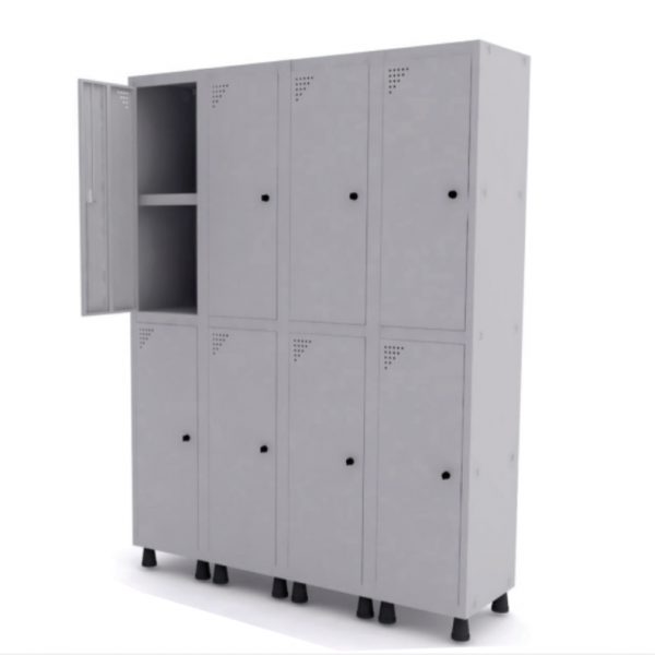 Roupeiro de Aço com 8 Portas Grandes – Pandin