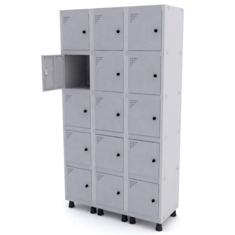 Roupeiro de Aço com 15 Portas Pequenas – Pandin