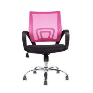 Cadeira Diretor  PEL-CR11 Preta e Rosa