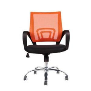Cadeira Diretor PEL-CR11 Preta e Laranja