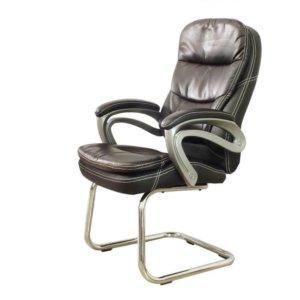Cadeira Interlocutor Em Couro Pu Pel-9018V Tabaco