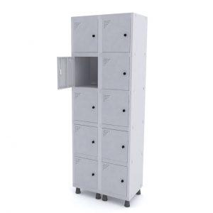 Roupeiro de Aço com 10 Portas Pequenas – Pandin
