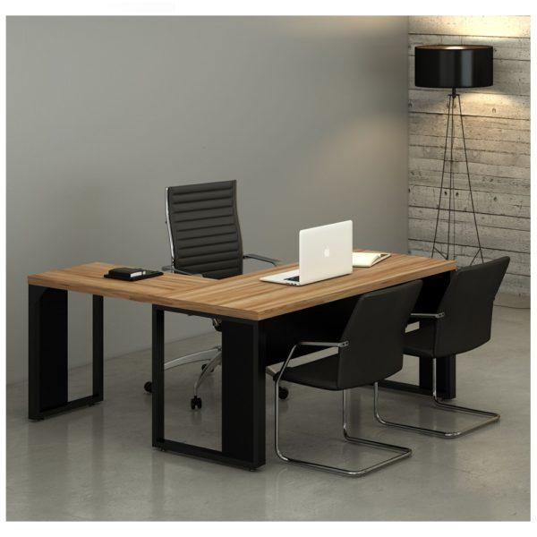 """Mesa de Escritório em """"L"""" – Gebb Work"""