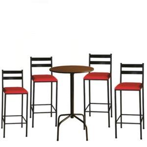 Mesa Bar com 4 Banqueta Jazz – Nobre