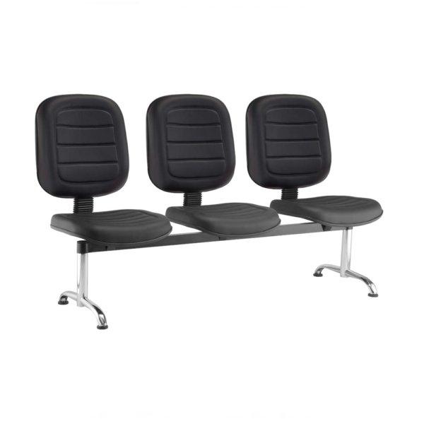 Cadeira Longarina Recepção Diretor Gomado com 3 Lugares – VTR