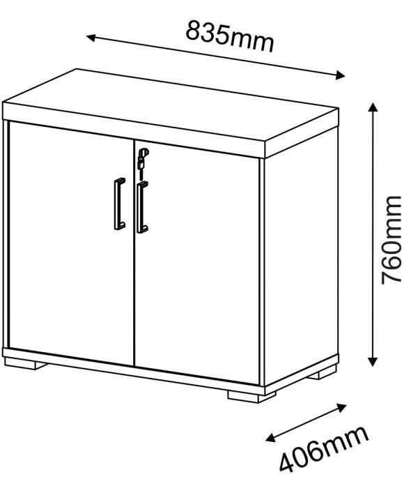 Armário Baixo com 2 Portas – Artany