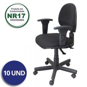 Cadeira Executiva Back System Lisa c/ Braços Reguláveis – VTR