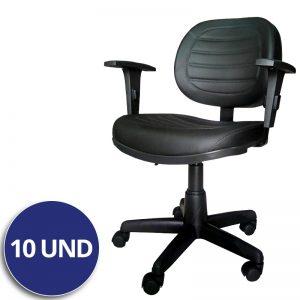 Combo Cadeira Executiva Giratória Costurada c/ Braço – VTR