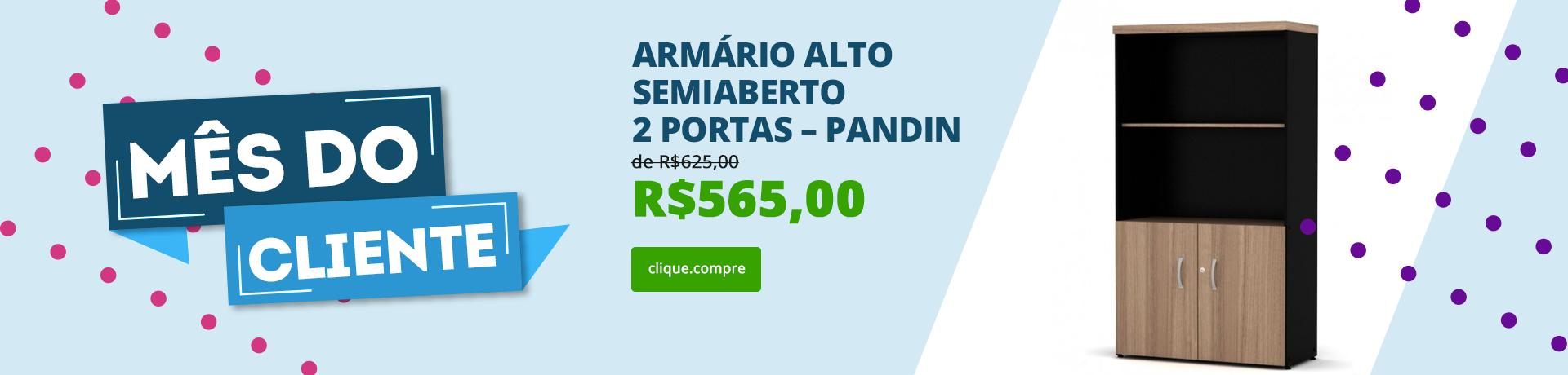 Armário Alto Semiaberto 2 portas – Pandin